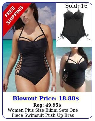 women plus size bikini sets one piece swimsuit push up bras swimwear beachwea