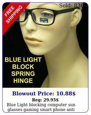 blue light blocking computer sun glasses gaming smart phone anti reflectiv