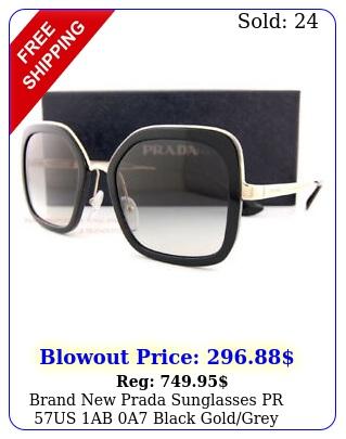brand prada sunglasses pr us ab a black goldgrey gradient wome