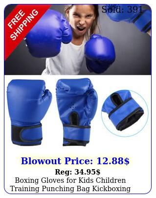 boxing gloves kids children training punching bag kickboxing mitts ag