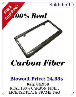 real carbon fiber license plate frame tag cover original k twill jdm f