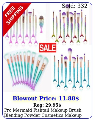 pro mermaid fishtail makeup brush blending powder cosmetics makeup brush too