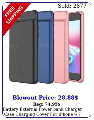 battery external power bank charger case charging cover iphone  plu