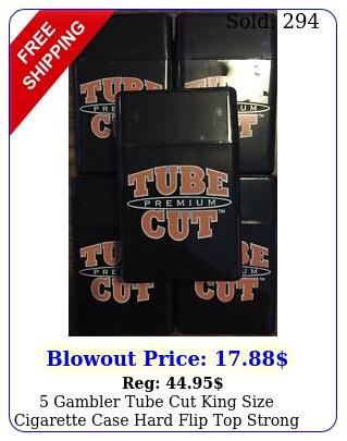 gambler tube cut king size cigarette case hard flip top strong heavy dut