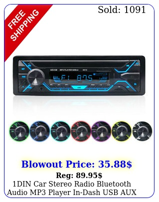 din car stereo radio bluetooth audio mp player indash usb aux noncd w