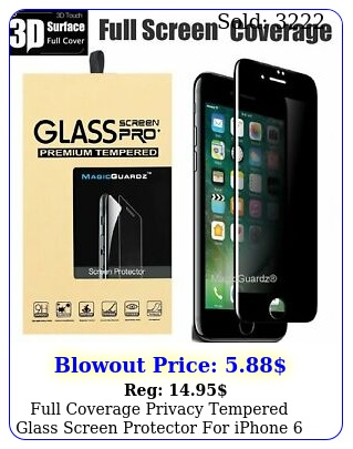 full coverage privacy tempered glass screen protector iphone s plus