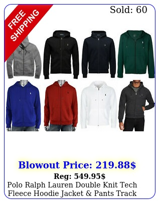 polo ralph lauren double knit tech fleece hoodie jacket pants track sui
