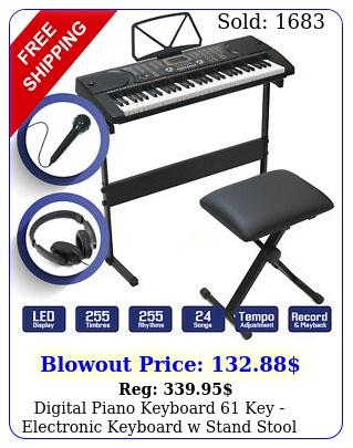 digital piano keyboard key electronic keyboard w stand stool headphone