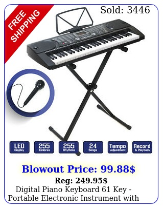 digital piano keyboard key portable electronic instrument with stan