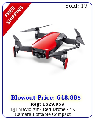 dji mavic air red drone k camera portable compac