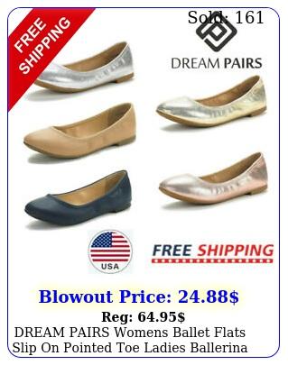 dream pairs womens ballet flats slip on pointed toe ladies ballerina flat shoe
