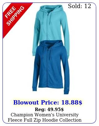 champion women's university fleece full zip hoodie collectio