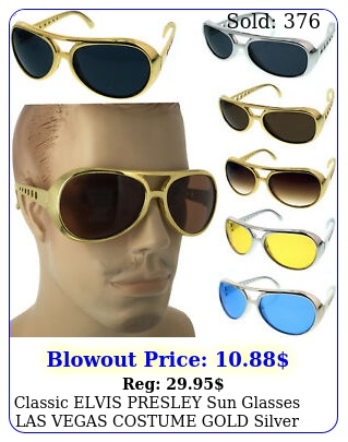 classic elvis presley sun glasses las vegas costume gold silver usa glasse