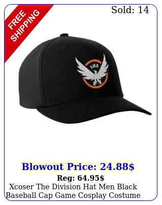 xcoser the division hat men black baseball cap game cosplay costume accessorie