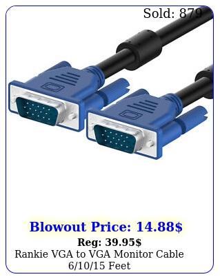 rankie vga to vga monitor cable fee