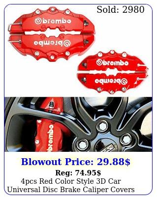 pcs red color style d car universal disc brake caliper covers front rear ki