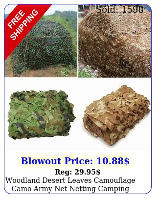 woodland desert leaves camouflage camo army net netting camping military huntin