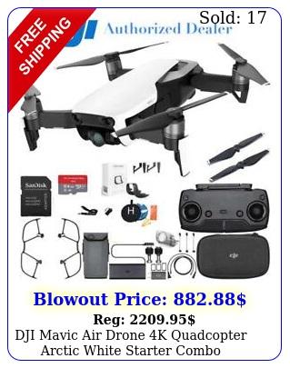 dji mavic air drone k quadcopter arctic white starter comb