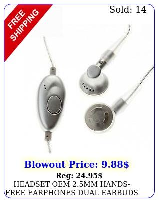 headset oem mm handsfree earphones dual earbuds w mic nr cell phone