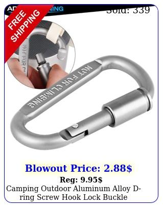 camping outdoor aluminum alloy dring screw hook lock buckle carabiner p