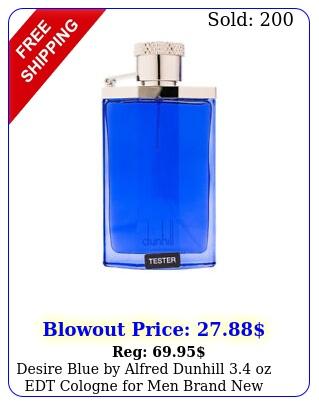 desire blue by alfred dunhill oz edt cologne men brand teste