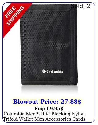columbia men's rfid blocking nylon trifold wallet men accessories cards wallet
