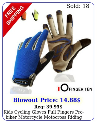 kids cycling gloves full fingers probiker motorcycle motocross riding skatin