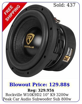rockville wkd k w peak car audio subwoofer sub w rms cea rate