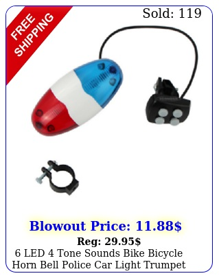 led tone sounds bike bicycle horn bell police car light trumpe