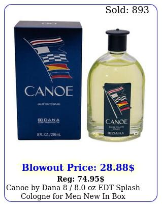 canoe by dana  oz edt splash cologne men in bo