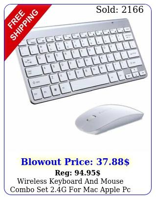 wireless keyboard mouse combo set g mac apple pc full size slim u