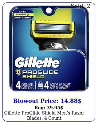 gillette proglide shield men's razor blades coun