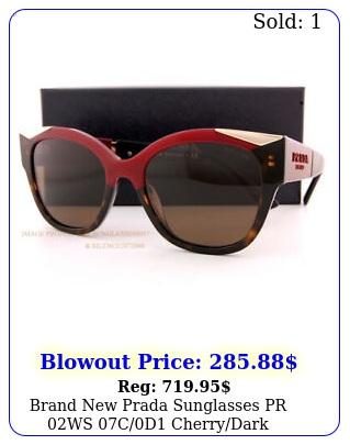 brand prada sunglasses pr ws cd cherrydark havanabrown wome