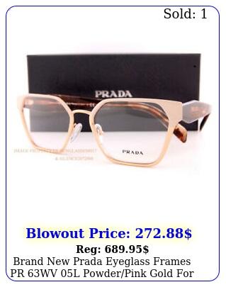 brand prada eyeglass frames pr wv l powderpink gold women size m