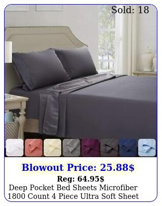 deep pocket bed sheets microfiber count piece ultra soft sheet se