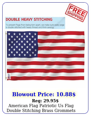 american flag patriotic us flag double stitching brass grommets polyester state