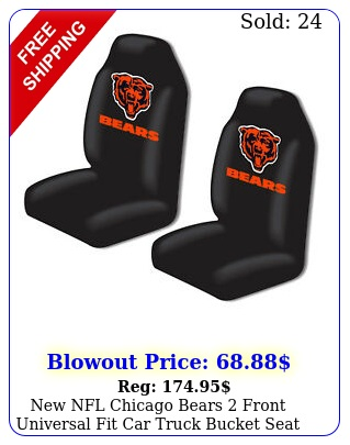 nfl chicago bears front universal fit car truck bucket seat cover
