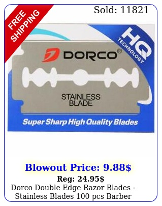 dorco double edge razor blades stainless blades pcs barber supplie