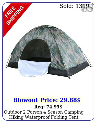 outdoor person season camping hiking waterproof folding tent camouflag
