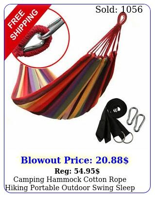 camping hammock cotton rope hiking portable outdoor swing sleep hanging be