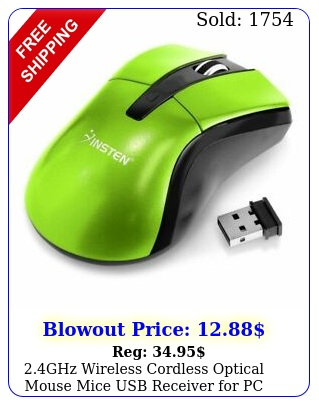 ghz wireless cordless optical mouse mice  usb receiver pc laptop gree