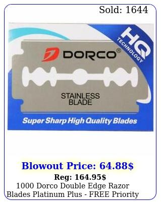 dorco double edge razor blades platinum plus free priority shippin