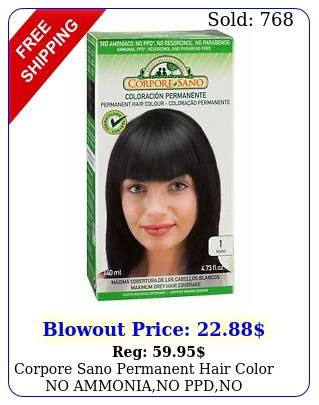 corpore sano permanent hair color no ammoniano ppdno parabensno resorcino