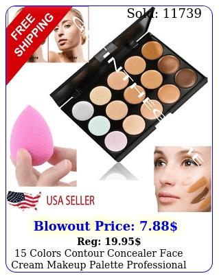 colors contour concealer face cream makeup palette professional  sponge ne