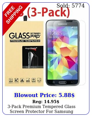 pack premium tempered glass screen protector samsung galaxy