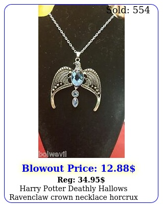 harry potter deathly hallows ravenclaw crown necklace horcrux free shippi