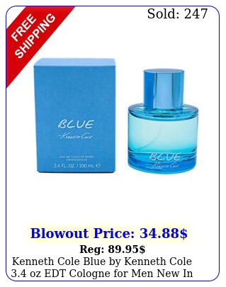 kenneth cole blue by kenneth cole oz edt cologne men i