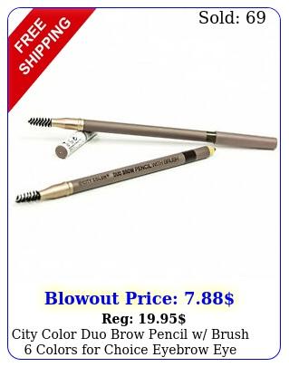 city color duo brow pencil w brush colors choice eyebrow eye brow line