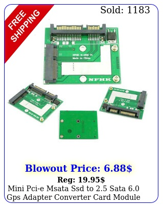 mini pcie msata ssd to sata gps adapter converter card module boar
