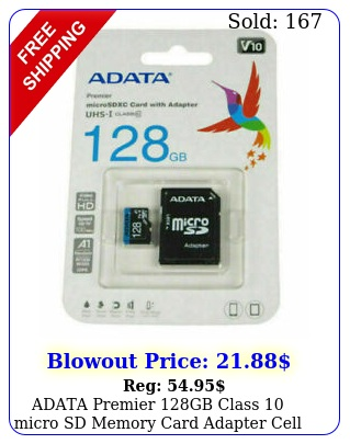 adata premier gb class micro sd memory card adapter cell phone table